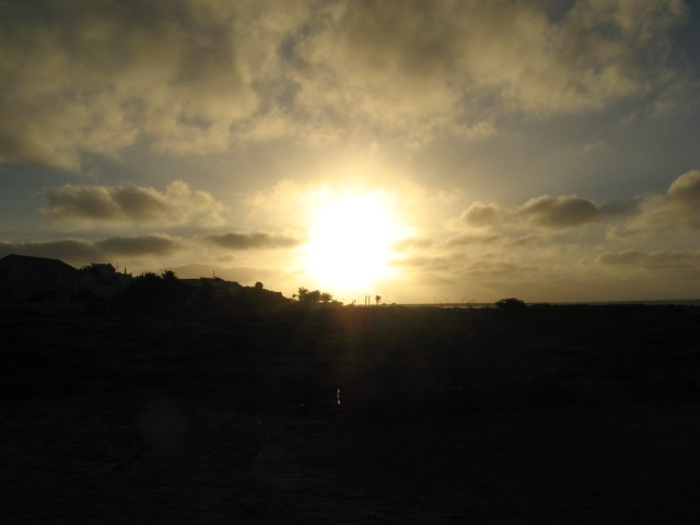 Soluppgång Kap Verde